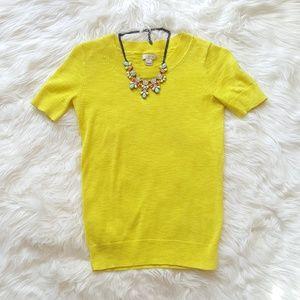 J. Crew Lemon Short Sleeve Sweater!